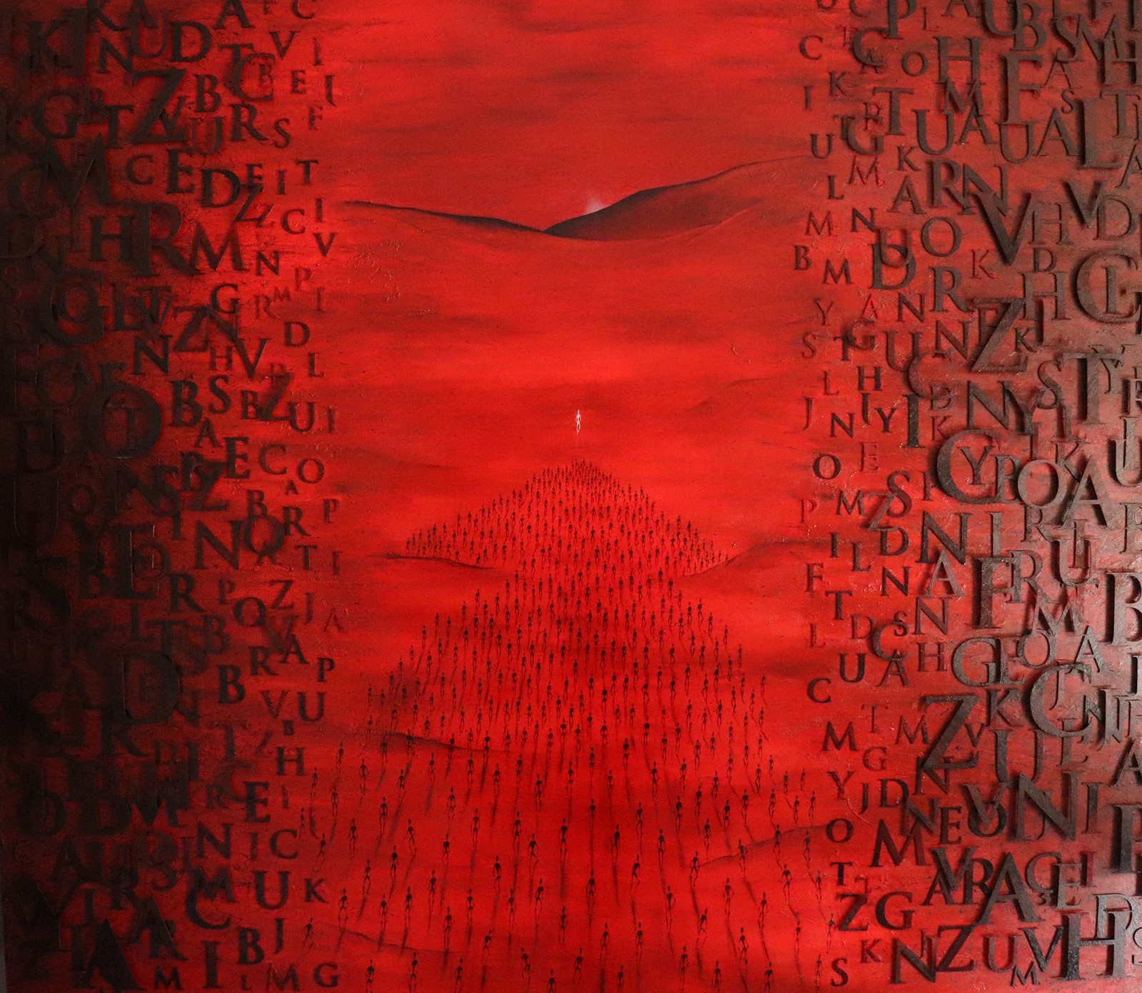 "<p>'TUVA', Tuval Üzeri Yağlıboya - Yerleştirme, 140x160 cm, 2020.<br /><em><span lang='EN-US'>""TUVA"", </span><span lang='EN-US'>Oil Painted on Canvas - Installation 140 x 160 cm, 2020.</span></em></p><p> </p>"